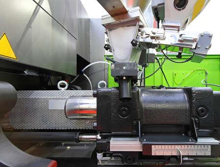 Injection moulding machine for plastic parts production Foto de archivo