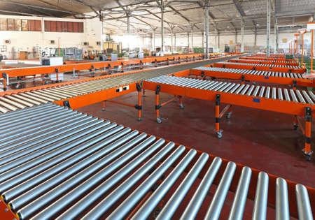 Sistema de cinta transportadora en la clasificación de almacén