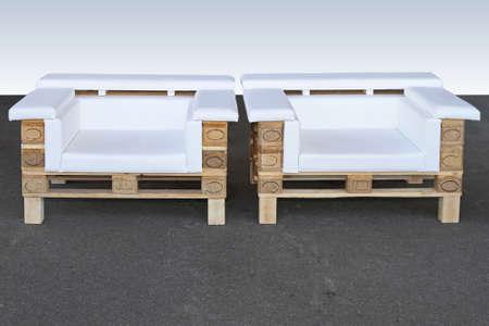 목재 팔레트 재활용이 안락 의자에서 용도 변경 업 사이클