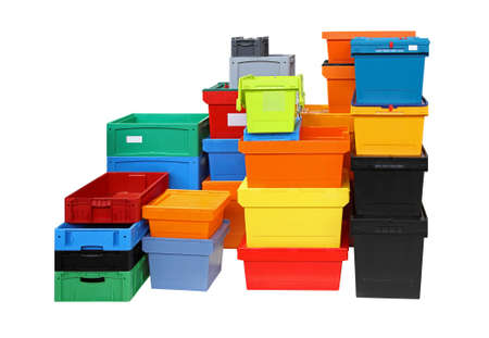 Crates and boxes for delivery shipping isolated included clipping path