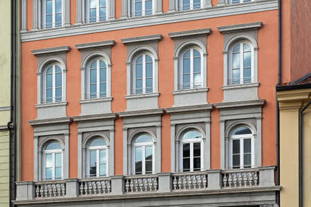 Classic building with arch windows in Trieste