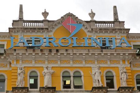 RIJEKA, CROATIA - OCTOBER 17: Jadrolinija headquoters building in Rijeka on OCTOBER 17, 2014. Biggest maritime shipping company in Rijeka, Croatia. Editorial