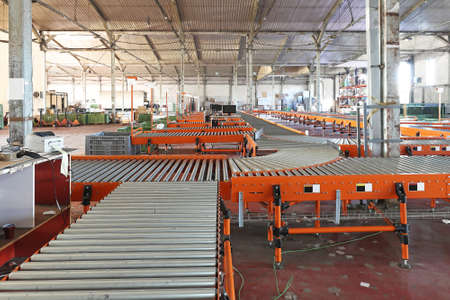 The interior of regional delivery hub warehouse