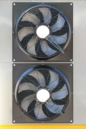 Two Cooling Fans at Industrial Equipment Stock fotó