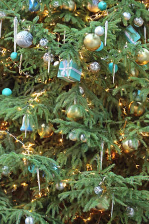 beautiful christmas tree with icicles and gifts stock photo 50300273 - Icicles For Christmas Tree