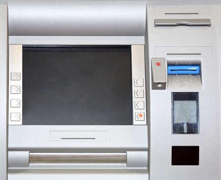 Automatd Teller Machine con il circuito integrato e lettore di schede senza contatto Archivio Fotografico - 53876342