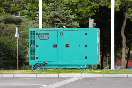 Diesel Generator for Emergency Electric Power Reklamní fotografie