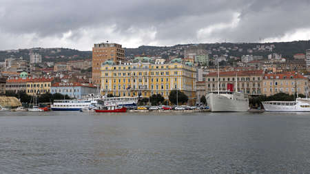 RIJEKA, CROATIA - OCTOBER 17: Jadrolinija Headquoters Building in Rijeka on OCTOBER 17, 2014. Biggest Maritime Shipping Company in Rijeka, Croatia.
