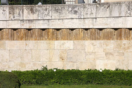 Exterior Wall at Parliament Building in Athens Stok Fotoğraf