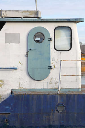 Watertight Door at Ship Exterior Cabin Reklamní fotografie