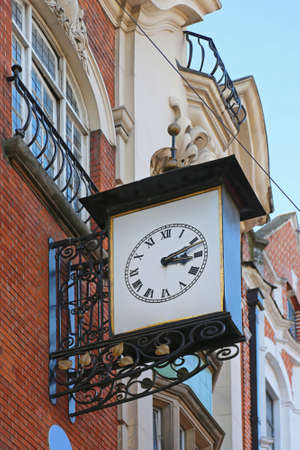 Medieval Style Public Clock at Building in Soho London