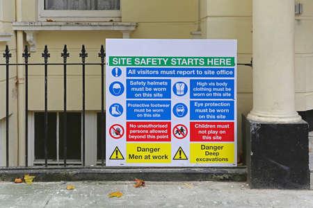 Construction Site Mandatory Safety Information Board