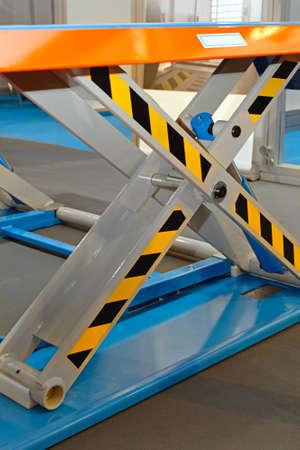 Automotive Scissor Lift Platform in Service Garage