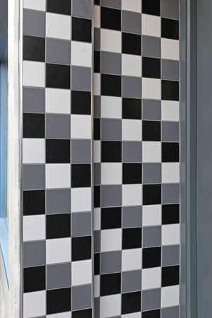 그레이 스케일 벽 타일 흑백 스톡 콘텐츠