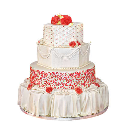 Big Wedding Cake With Four Tiers