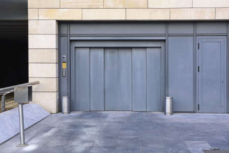 Entrance to Underground Car Garage with Elevator Lift
