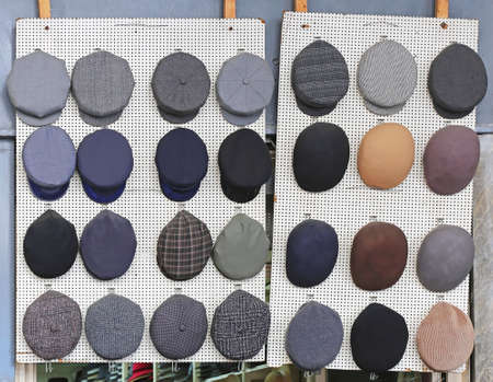 Mens Flat Caps and Hats Collection 免版税图像