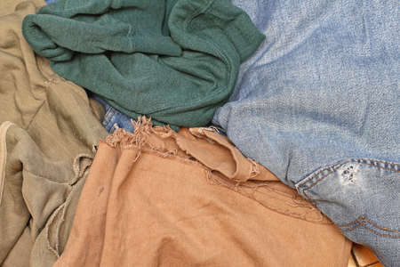 Bunch of Old Worn Out Clothes Banco de Imagens