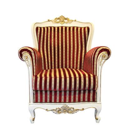 分離された繊維の肘掛け椅子は、クリッピング パス含まれて 写真素材