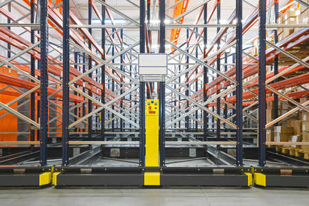 Mobile Shelving Storage Systems in Distribution Warehouse