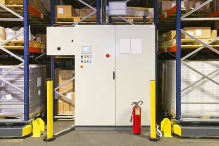 Control Cabinet For High Density Shelving System in Warehouse