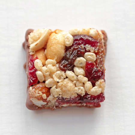 Small Square Bite Size Healthy Protein Bar Stock Photo