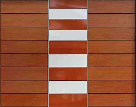 複合材料と装飾的な茶色の羽目板 写真素材