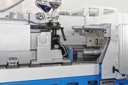 Injection Molding Machine for Plastic Parts Production Banque d'images