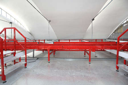 Production Line With Conveyor Rollers in Factory