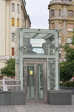 Accessible Lift at Bridge in Budapest