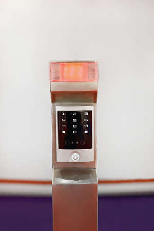 Numeric Pad Access at Smart Electronic Lock With Red Light