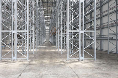 Empty Shelves in New Distribution Warehouse
