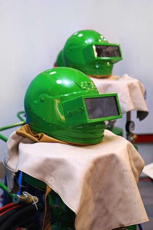 Green Helmet Protection Equipment for Sandblasting