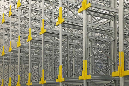 New Shelving System Rails in Automated Warehouse
