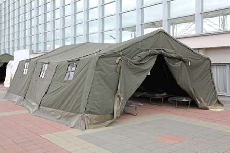 Green Tent Temporary Shelter for Disasters and Refuge