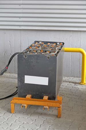 Charging Big Lead Acid Battery For Forklift in Warehouse