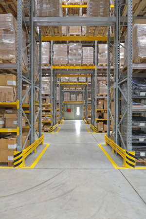 Corridors and Aisles in Distribution Warehouse