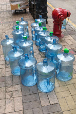 Empty Water Bottles For Exchange at Street