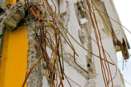 Detail of Ruined House After Earthquake Shock