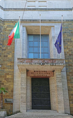 Rome, Italy - June 29, 2014: Ministry of Economic Development Government Building in Rome, italy. Editorial