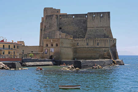 Naples, Italy - June 22, 2014: Castel dell Ovo Fortification in Napoli, Italy.