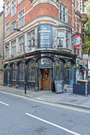 London, United Kingdom - November 19, 2013: Bloomsbury Tavern Shepherd Neame at Shaftsbury Ave in London, UK.
