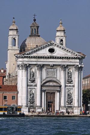 Venice, Italy - September 23, 2009: Santa Maria del Rosario Church at Giudecca Canal in Venezia, Italy.