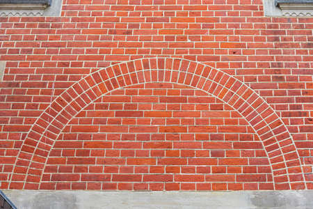 Arch Shape at Brick Wall Exterior Architecture