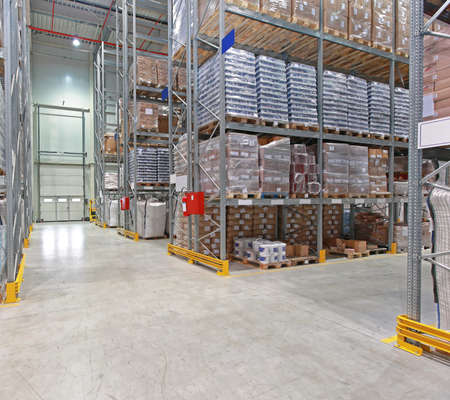 Shelving System Storage in Distribution Warehouse Interior