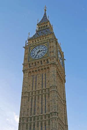 Elizabeth Clock Tower Famous Big Ben London Landmark