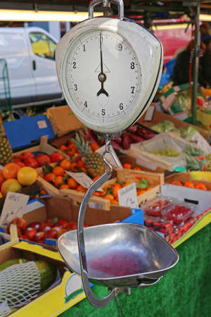 Mechanical Hanging Scale at Street Market Stall