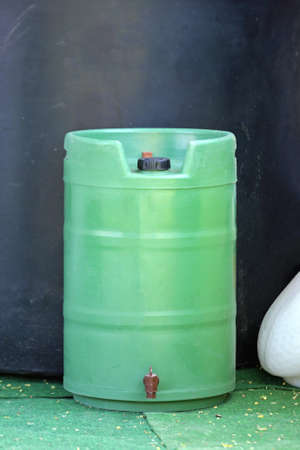 Plastic Green Gardening Barrel With Spigot