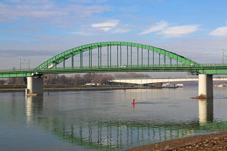 Old Green Sava Bridge in Belgrade