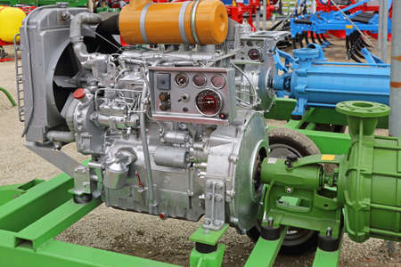 Powerful Diesel Engine With Attached Water Pump